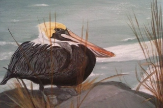 retouched pelican
